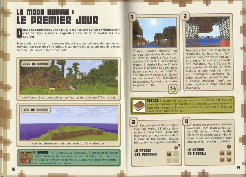 guide officiel minecraft débuter